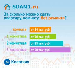 Сдать квартиру в Москве м.Киевская без ремонта цены на аренду