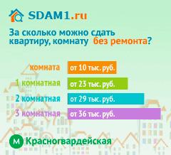 Сдать квартиру в Москве м.Красногвардейская без ремонта цены на аренду