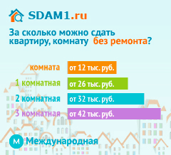 Сдать квартиру в Москве м.Международная без ремонта цены на аренду