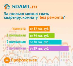 Сдать квартиру в Москве м.Профсоюзная без ремонта цены на аренду