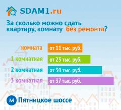 Сдать квартиру в Москве м.Пятницкое шоссе без ремонта цены на аренду