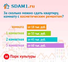 Сдать квартиру в Москве м.Парк культуры с косметическим ремонтом цены на аренду