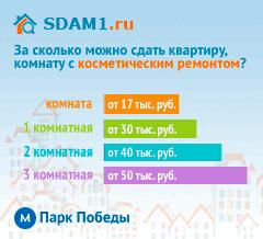 Сдать квартиру в Москве м.Парк Победы с косметическим ремонтом цены на аренду