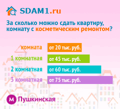 Сдать квартиру в Москве м.Пушкинская с косметическим ремонтом цены на аренду
