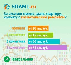 Сдать квартиру в Москве м.Театральная с косметическим ремонтом цены на аренду