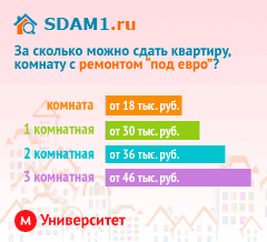 Сдать квартиру в Москве м.Университет с ремонтом