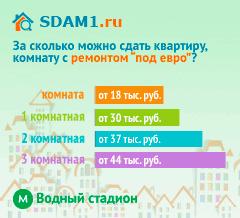 Сдать квартиру в Москве м.Водный стадион с ремонтом